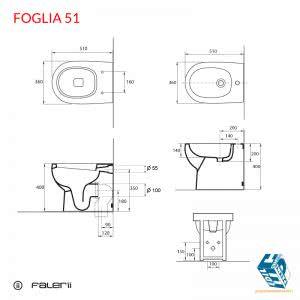 Dimensioni sanitari falerii foglia 51 edil ceramiche palmi - Sanitari bagno dimensioni ...