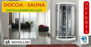 Novelllini Ares 1: Offerta Sauna – Idromassaggio – Doccia