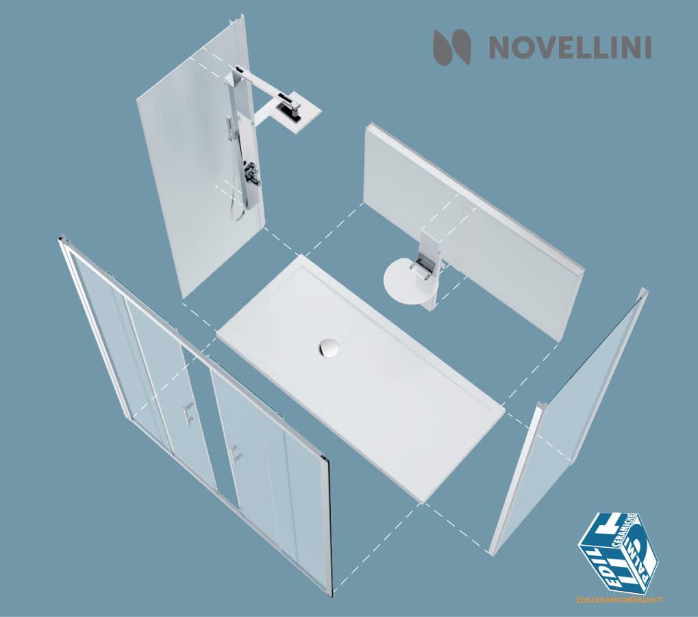 Docce box doccia colonne doccia edil ceramiche palmi - Grandezza piatto doccia ...