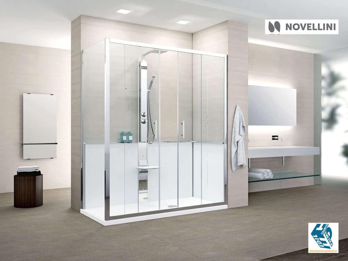 Trasformazione da vasca in doccia con novellini revolution - Vasca bagno con porta ...