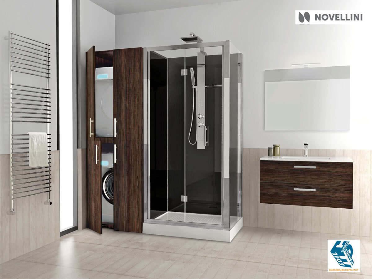 Trasformazione da vasca in doccia con novellini revolution - Asciugatrice in bagno ...