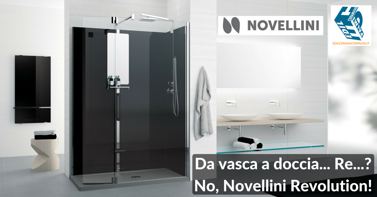 Trasformazione da vasca in doccia con Novellini Revolution