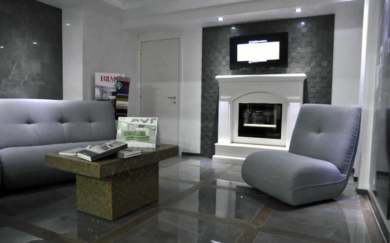 salone moderno divani in pelle